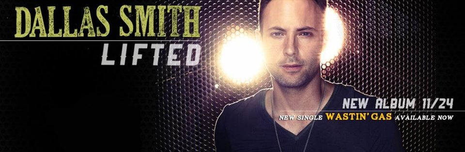 Country star Dallas Smith rocking our black V-neck with leather trim on the cover of his new album Lifted.